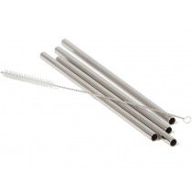 ECO Brotbox stainless steel STRAWS CLASSIC