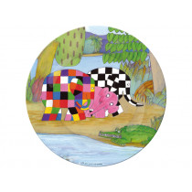 Kids plate with Elmer and his friends by Petit Jour