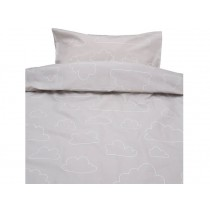 Färg&Form Bedding Moln ORGANIC clouds beige-grey