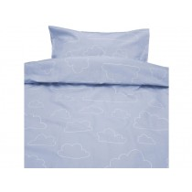 Färg&Form Bedding Moln ORGANIC clouds blue