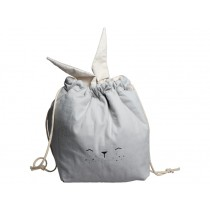 Fabelab Small Storage Bag BUNNY icy grey