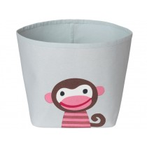 FRANCK & FISCHER storage bin MONKEY light grey
