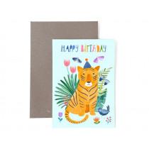 Frau Ottilie Birthday greeting card HAPPY BIRTHDAY Tiger