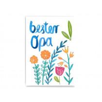 Frau Ottilie Postcard BEST GRANDPA