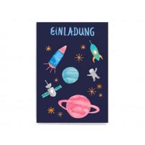 Frau Ottilie Postcard INVITATION space for children's birthday party