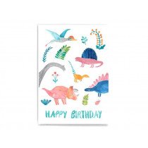 Frau Ottilie Postcard HAPPY BIRTHDAY Dino