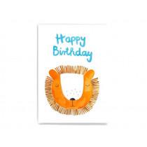 Frau Ottilie Postcard HAPPY BIRTHDAY Lion