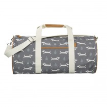 Fresk Weekender Bag Large DOGS grey
