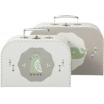 Fresk suitcase set whale grey