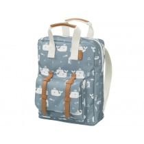 Fresk Kids Backpack WHALE blue