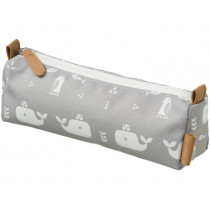 Fresk Pencil Case WHALE grey
