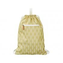 Fresk Drawstring Bag LEAVES mustard yellow
