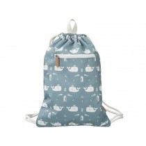 Fresk Drawstring Bag WHALES blue