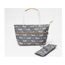 Fresk Nursing Bag DOGS grey