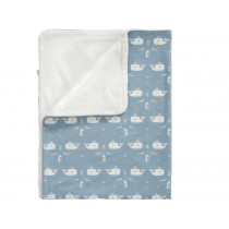 Fresk Baby Blanket WHALE blue large