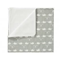 Fresk Baby Blanket WHALE grey small