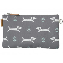 Fresk Toilet Bag DOGS grey
