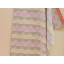 David Fussenegger baby blanket triangles pink