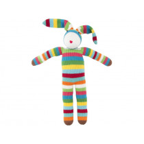 Global Affairs Knitted Toy RABBIT striped