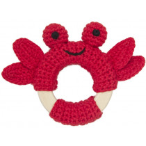 Global Affairs Crochet Ring Rattle CRAB