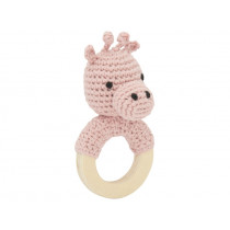 Global Affairs Crochet Ring Rattle GIRAFFE
