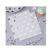 Ginger Ray NAPKINS polka dots silver