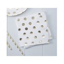 Ginger Ray NAPKINS polka dots gold
