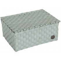 Small box with flaptop in greyish green by Handed By