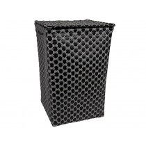 Handed By laundry basket Lyon black silver