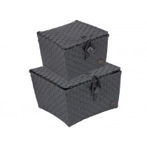 Handed By basket Pisa dark grey