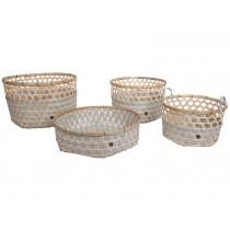 Handed By bamboo baskets Bamboolastic flint grey