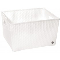 Open basket with open handles in white by Handed By