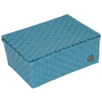 Small basket Udine in stone blue by Handed By