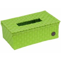 """Handed By tissue box """"Luzzi"""" in apple green"""
