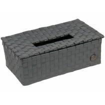 "Handed By tissue box ""Luzzi"" in dark grey"