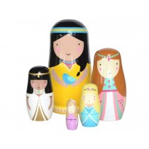Helen Dardik nesting dolls princesses