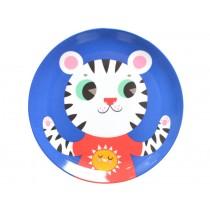 Helen Dardik melamine plate tiger blue