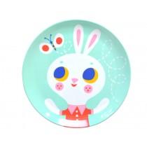 Helen Dardik melamine plate rabbit