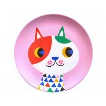 Helen Dardik melamine plate cat