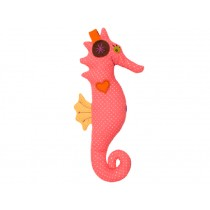 Hickups rattle seahorse pink
