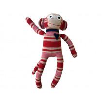 Hickups sock monkey red/beige
