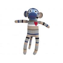 Hickups sock monkey light blue / grey