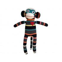 Hickups sock monkey black/grey/white multi