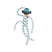 Hickups XXL sock monkey hearts white/turquoise