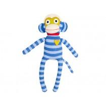 Hickups sock monkey blue / light blue