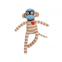 Hickups sock monkey creme/brown