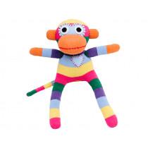 Hickups sock monkey mini rainbow