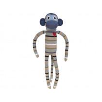 Hickups XXL sock monkey grey/white/green