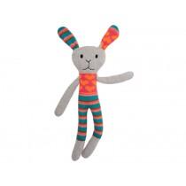 Hickups knitted rabbit grey / orange