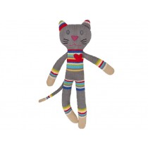 Hickups knitted cat grey